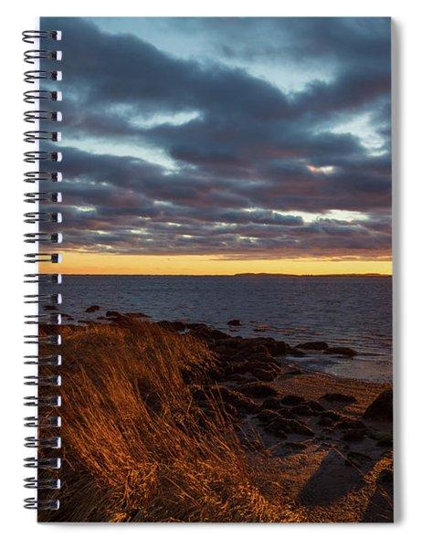 Randall Point Sunset At Barn Island - Stonington Ct Spiral Notebook