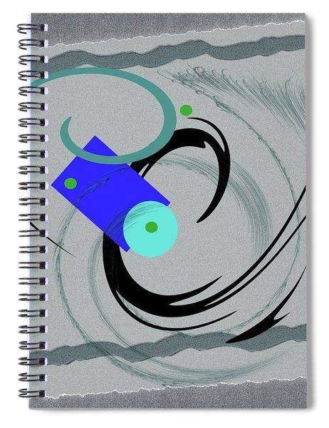 Randomness Variations 5, On Paper Montage Spiral Notebook