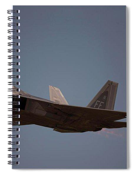 Raptor Fighter Aircraft Spiral Notebook