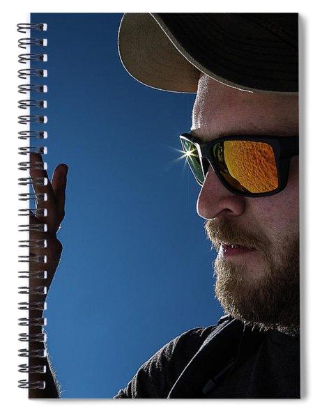 Rare Obsidian  Spiral Notebook