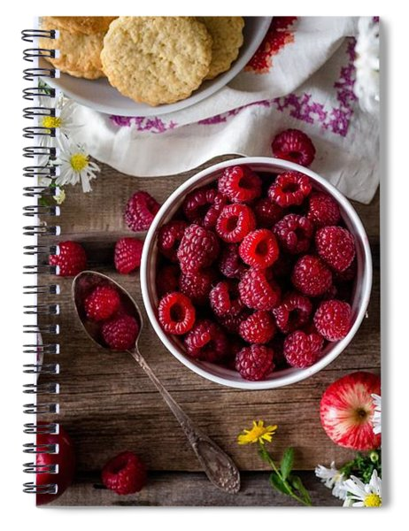 Raspberry Breakfast Spiral Notebook