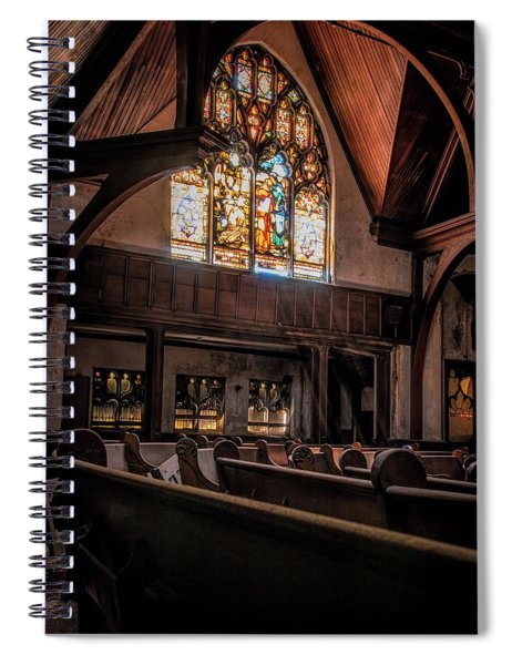Rays Of Light Within The Sanctuary Spiral Notebook