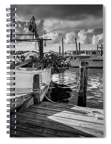 Spiral Notebook featuring the photograph Ready To Go In Bw by Doug Camara