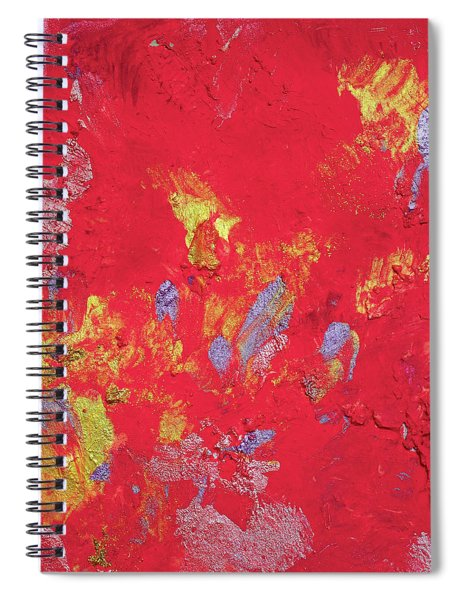 Red Cherry Abstract Painting Spiral Notebook