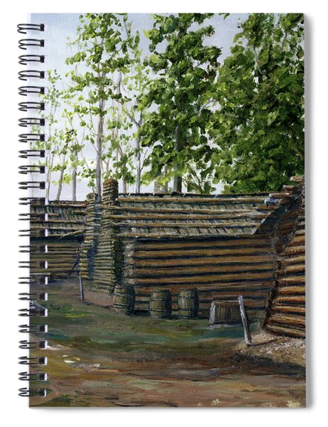 Rebel Huts, Port Hudson, Louisiana 1863 Spiral Notebook