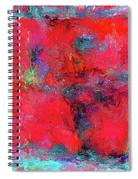 Rectangular Red Spiral Notebook