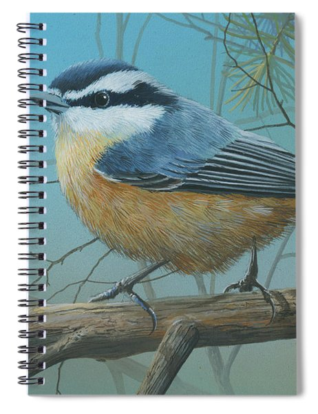 Red Brested Nuthatch Spiral Notebook