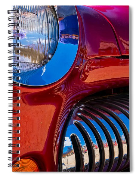 Red Car Chrome Grill Spiral Notebook