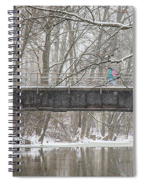 Red Cedar River Michigan State Winter  Spiral Notebook