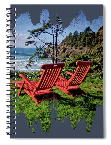 Red Chairs At Agate Beach Spiral Notebook