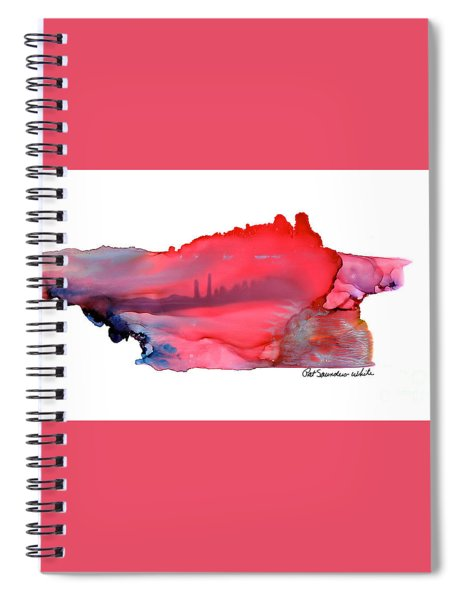 Red City Spiral Notebook