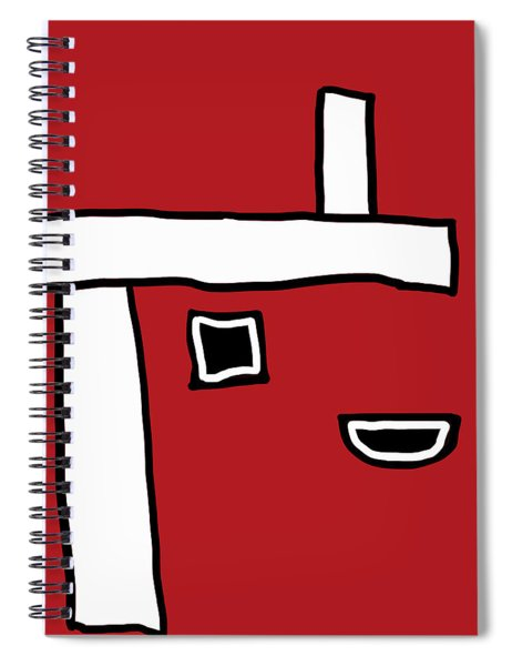 Red Crispr Crooked Edge Spiral Notebook