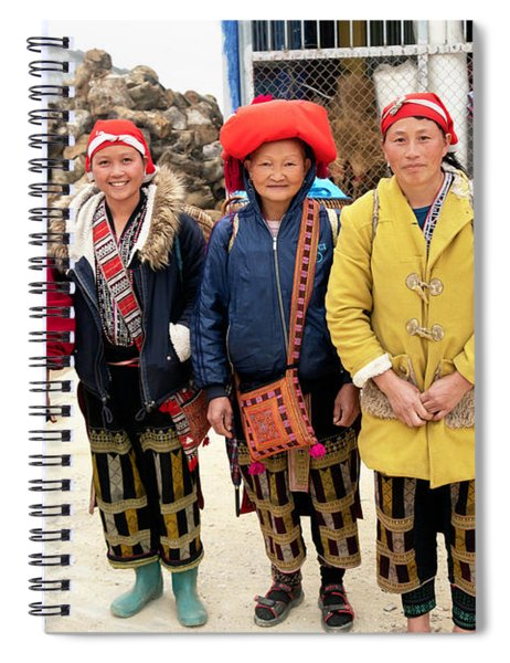 Red Dao Woman From Sa Pa, Vietnam Spiral Notebook