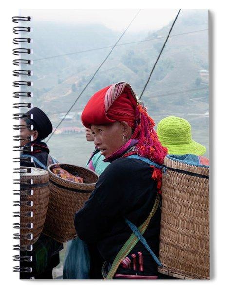 Red Dao Woman, Sapa, Vietnam Spiral Notebook
