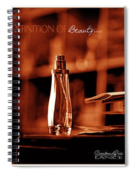 Red Definition Of Beauty Spiral Notebook