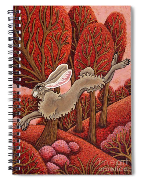 Red Forest Run Spiral Notebook