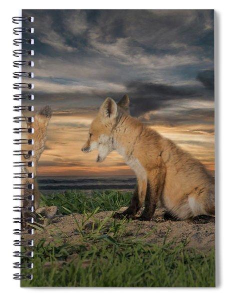 Red Fox Kits - Past Curfew Spiral Notebook