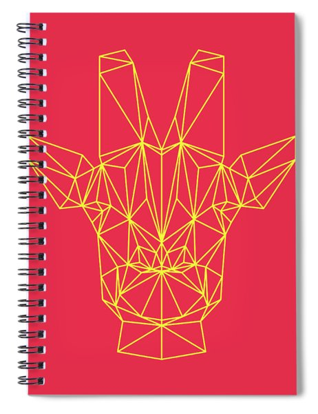 Red Giraffe  Spiral Notebook