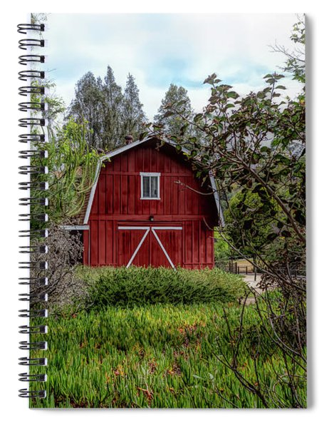 Red House Over Yonder Spiral Notebook