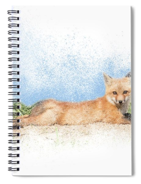 Red Kit Fox #16 - Yoga Sphinx Spiral Notebook by Patti Deters