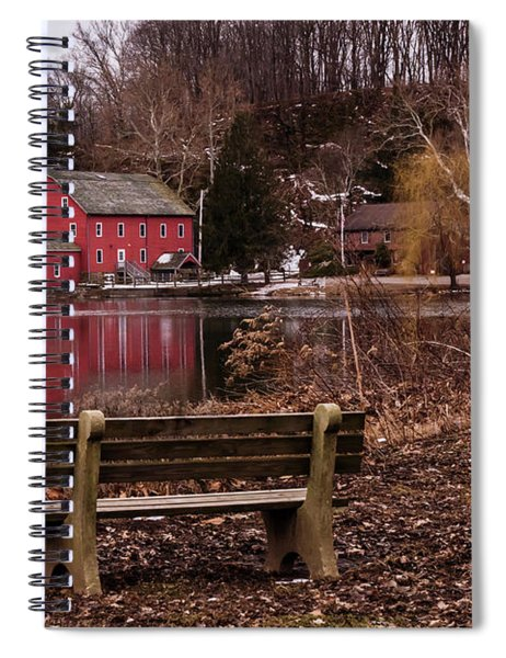 Red Mill Reflection Clinton New Jersey Spiral Notebook