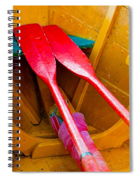 Red Oars Spiral Notebook