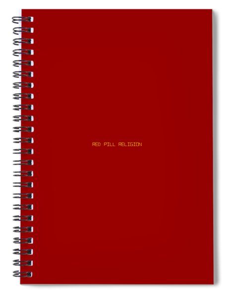 Red Pill Religion Digital Clock On Red Spiral Notebook