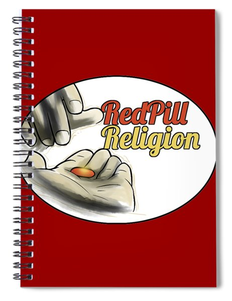 Red Pill Religion Logo On Red Spiral Notebook