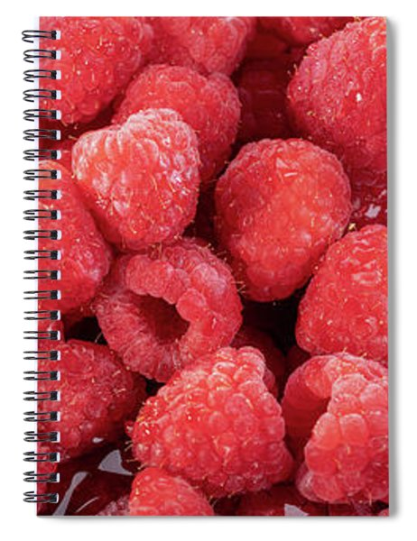 Red Raspberries In A Bowl Spiral Notebook