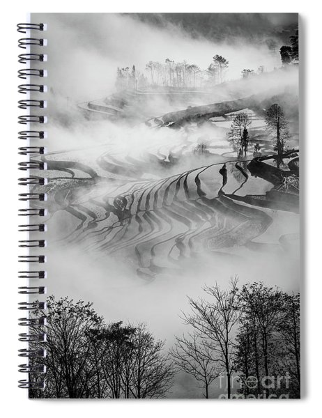 Red River Rice Paddies Spiral Notebook by Inge Johnsson