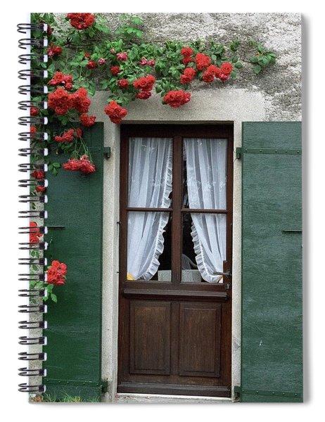 Red Rose Door Spiral Notebook