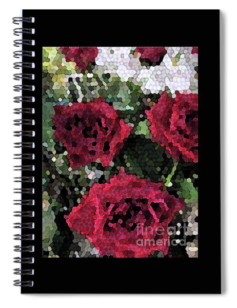 Red Roses Mosaic 1001 Spiral Notebook