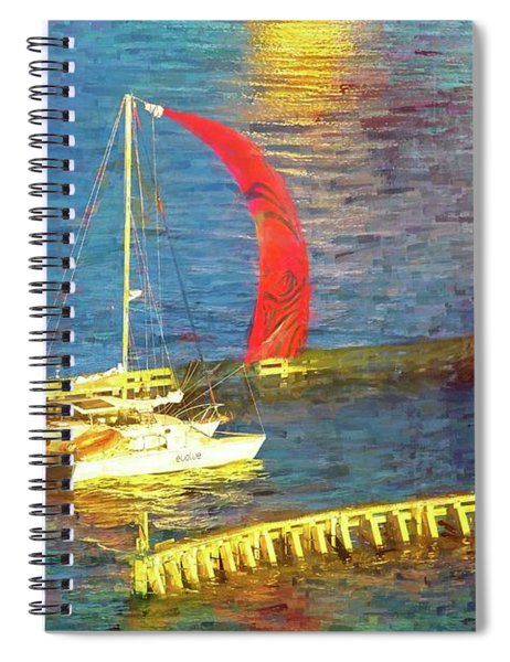 Red Sail Flying Spiral Notebook