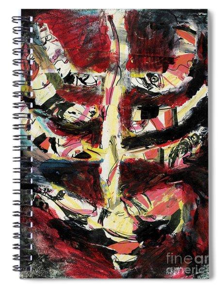 Red Skeleton2 Spiral Notebook