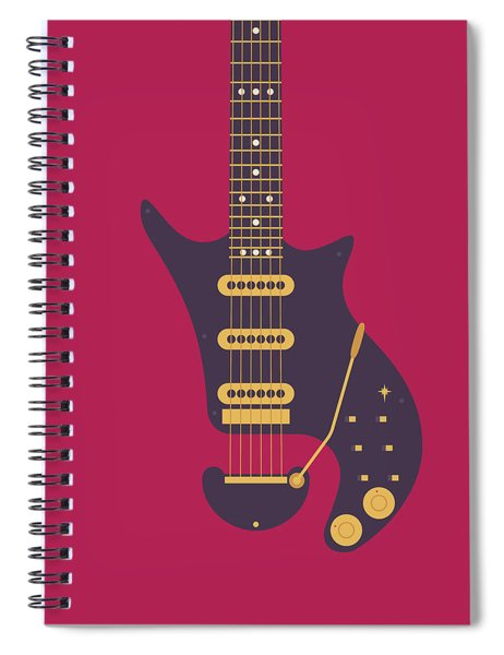 Red Special Guitar - Burgundy Spiral Notebook