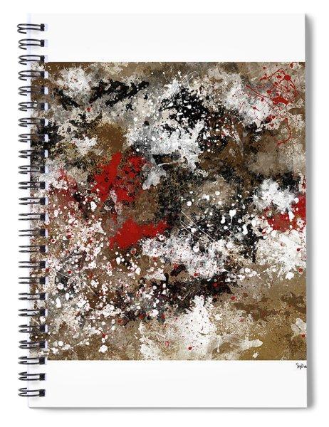 Red Splashes Spiral Notebook