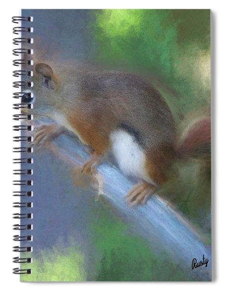 Red Squirrel Portrait. Spiral Notebook