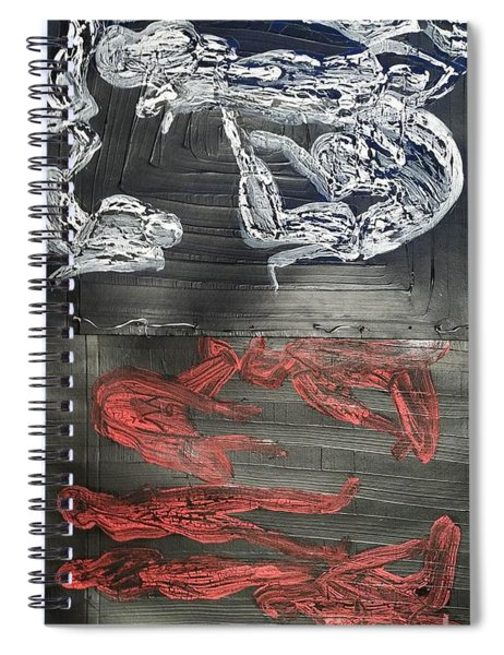 Red Strangles White Cells Spiral Notebook