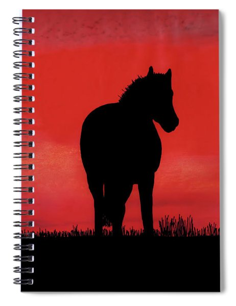 Red Sunset Horse Spiral Notebook