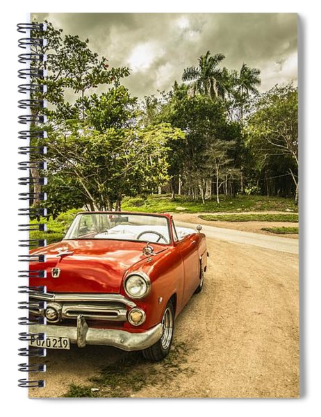 Red Vintage Car Spiral Notebook