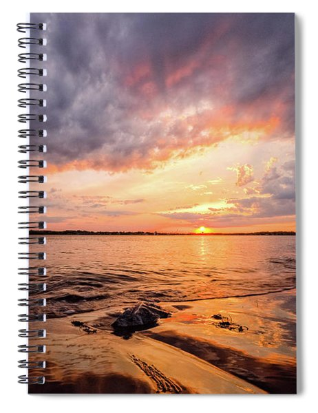 Reflect The Drama, Sunset At Fort Foster Park Spiral Notebook