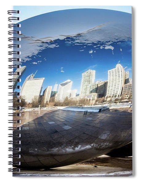 Reflecting Bean Spiral Notebook