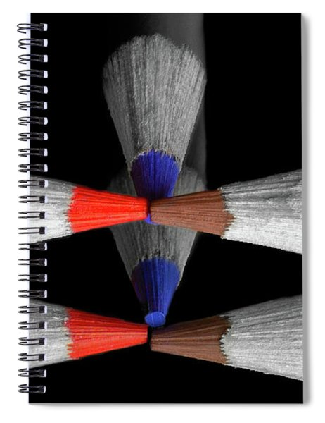 Reflecting Colour Pencils Spiral Notebook by Garvin Hunter