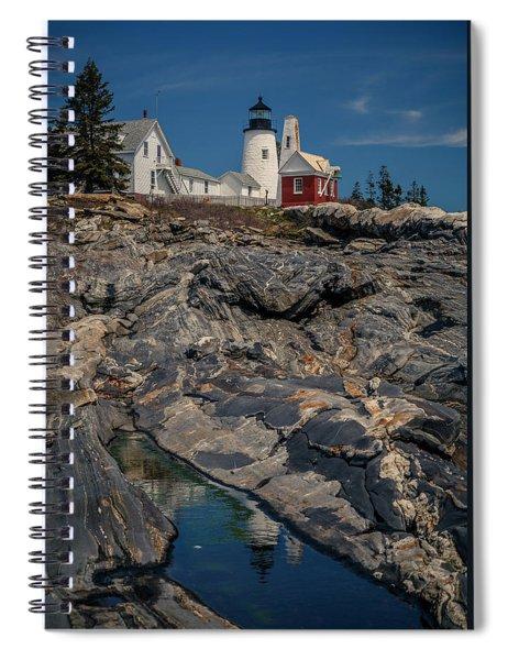 Reflecting On Pemaquid Light Spiral Notebook