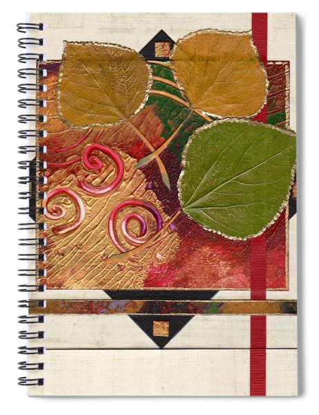 Spiral Notebook featuring the mixed media Reflection by Koka Filipovic
