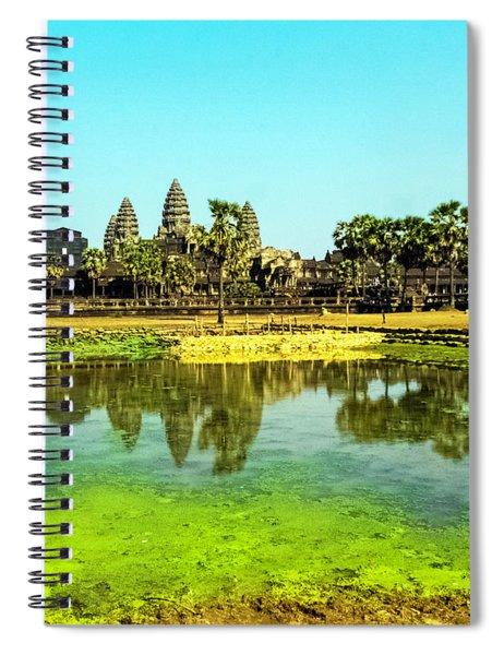 Reflections At Angkor Wat, Cambodia Spiral Notebook