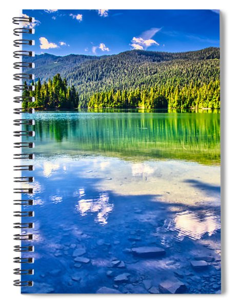 Reflections In Packwood Lake Spiral Notebook