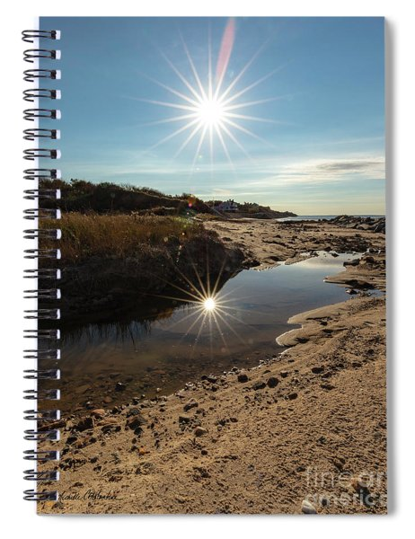 Reflections Of Autumn At The Beach Spiral Notebook