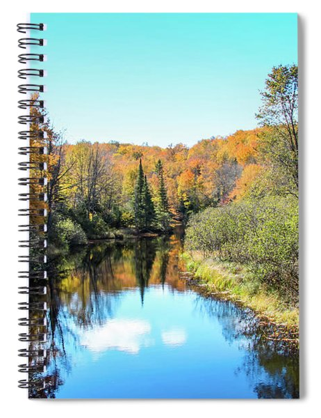 Reflections Of Fall In Wisconsin Spiral Notebook