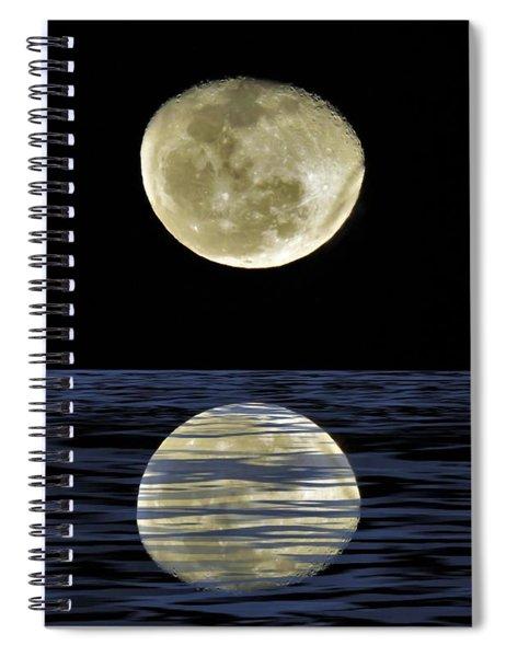Reflective Moon Spiral Notebook